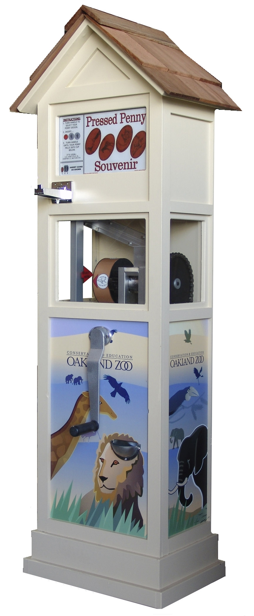 Outdoor Penny Machine by The Penny Machine Company